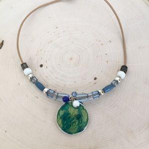 Resin Pendant Beach Native Necklace